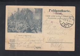 KuK Feldpost Bild-PK Gefecht In Rava Ruska 1914 Innsbruck - Cartas