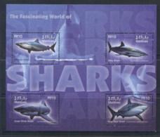 Maldive Is 2004 Marine Life, Fascinating World Of Sharks Sheetlet MUH - Maldives (1965-...)