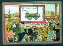 Maldive Is 2004 Railways MS MUH Lot66620 - Maldives (1965-...)