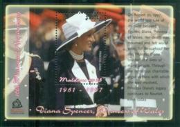 Maldive Is 2007 Princess Diana In Memoriam, 10th Anniv., Princess Of Wales MS MUH - Maldives (1965-...)