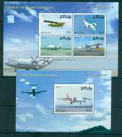 Maldive Is 2009 Chinese Aviation Centenary 2x MS MUH Lot66622 - Maldives (1965-...)