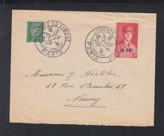 Frankreich France Brief 1943 Journee Du Timbre Aufdruck - Poststempel (Briefe)
