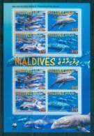 Maldive Is 2010 WWF Melon Headed Whale MS Lot82489 - Maldives (1965-...)