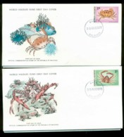 Maldives 1978 WWF,Crab, ,Franlkin Mint (with Inserts) 2xFDC Lot79619 - Maldives (1965-...)