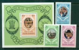 Maldives 1981 Charles & Diana Royal Wedding +MS MUH Lot81870 - Maldives (1965-...)