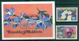Maldives 1984 AUSIPEX Orchids + MS MUH Lot81522 - Maldives (1965-...)