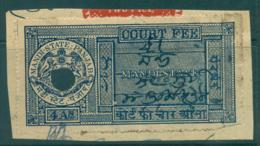 Mandi State 1930-40 Court Fee 4a Blue Lot36553 - India