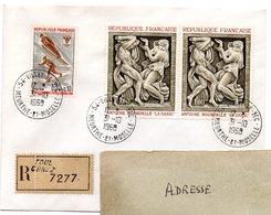 MEURTHE & MOSELLE - Dépt N° 54 = VILLEY St ETIENNE 1969 =  CACHET MANUEL Codé A9 + Recommandé TOUL CP N° 2 - Marcofilia (sobres)