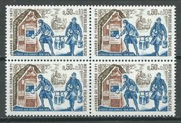 France YT N°1671 Journée Du Timbre 1971 La Poste Aux Armées (Bloc De Quatre) Neuf ** - France