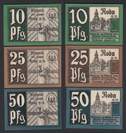 Thüringen - 3 Stück Notgeld Banknoten 1920  (20136 - Alemania