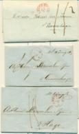 Correspondentie Van König & Co Te Amsterdam Naar Scheurleer Den Haag 1845 (1) En 1844 (2) - ...-1852 Prephilately
