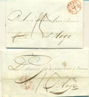 Correspondentie Van Administratiekantoor Tjeenk Te Amsterdam Naar Scheurleer Den Haag 1845 (2) - ...-1852 Prephilately