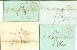 Correspondentie Van Westendorp En Comp. Te Amsterdam Naar Scheurleer Den Haag 1842 (2) En 1850 (2) - ...-1852 Prephilately