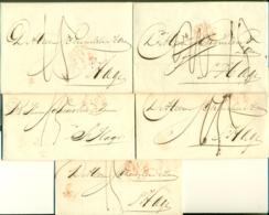 Correspondentie Van Firma Leembruggen, Guépin & Muysken Te Amsterdam Naar Scheurleer Den Haag 1847 (4) En 1848 (1) - ...-1852 Prephilately