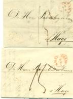 Correspondentie Van Fleischauer Te Amsterdam Naar Scheurleer Den Haag 1842 (2) - ...-1852 Préphilatélie