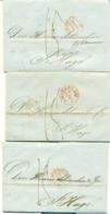 Correspondentie Van Goll & Co Bankiers En Kooplieden Te Amsterdam Naar Scheurleer Den Haag 1846 (2) En 1847 (1) - ...-1852 Prephilately