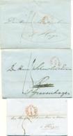 Correspondentie Van Gebr. Sichel Te Amsterdam Naar Scheurleer Den Haag 1842 (1) En 1850 (2) - ...-1852 Prephilately