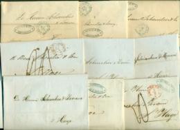 Correspondentie Van Firma Bunge & Co Naar Scheurleer Den Haag 1843, (3) En 1847 (6) - ...-1852 Prephilately