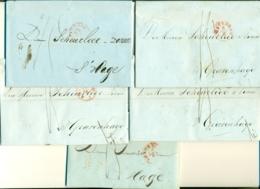 Correspondentie Van Koning A. Vd Goes Te Amsterdam Naar Scheurleer Den Haag 1848 (5) - ...-1852 Prephilately
