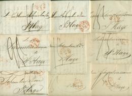 Correspondentie Van Schuman Te Amsterdam Naar Scheurleer Den Haag 1845 (4) En 1850 (5) - ...-1852 Prephilately