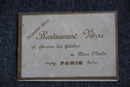 Menu Du Restaurant VERON à PARIS, Repas De Noces, Daté Du 29 AVRIL 1905. - Menus