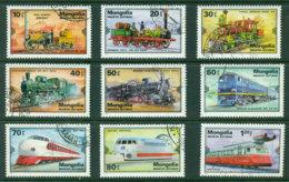 Mongolia 1980 Trains CTO Lot21205 - Mongolia