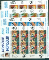 Mongolia 1987 Disney, Disney Cartoons 9xsheetlet MUH Lot78945 - Mongolia