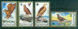 Mongolia 1988 Wildlife Conservation, Birds, Eagles MUH - Mongolia