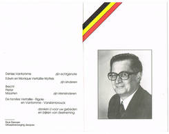 Izegem: 1994, De Heer Urbain Roger Verfaillie;politiek Gevangene 1940-1945. (2 Scans) - Andachtsbilder