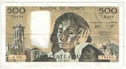 500 F Pascal - 5-7-1984 - R 212 79450 - 1962-1997 ''Francs''
