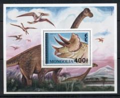 Mongolia 1994 Prehistoric Animals, Dinosaurs MS MUH - Mongolia