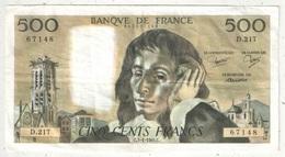 500 F Pascal - 3-1-1985 - D 217 67148 - 1962-1997 ''Francs''