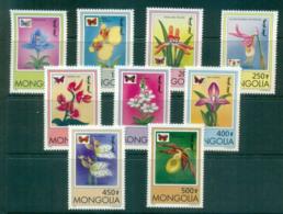 Mongolia 1997 Orchids (9) MUH Lot55982 - Mongolia