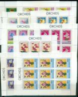 Mongolia 1997 Orchids Sheetlets(9) MUH Lot55984 - Mongolia