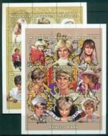 Mongolia 1997 Princess Diana In Memoriam 2xMS MUH Lot82028 - Mongolia