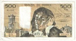 500 F Pascal - 3-2-1977 - Z 72 01102 - 1962-1997 ''Francs''