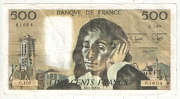 500 F Pascal - 3-4-1980 - C 109 61604 - 1962-1997 ''Francs''