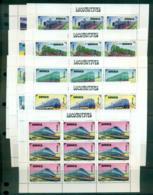 Mongolia 1997 Trains Sheetlets (9) MUH Lot55987 - Mongolia
