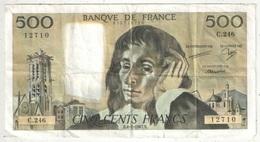 500 F Pascal - 8-1-1987 - C 246 12710 - 1962-1997 ''Francs''