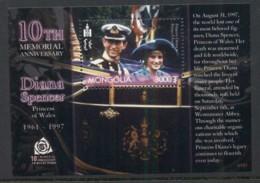 Mongolia 2003 Princess Diana In Memoriam 10th Anniv. MS MUH - Mongolia