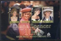 Mongolia 2003 Princess Diana In Memoriam 10th Anniv. Sheetlet MUH - Mongolia