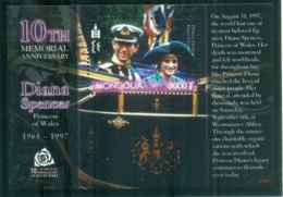 Mongolia 2007 Princess Diana In Memoriam, 10th Anniv., Charles & Diana In Coach MS MUH - Mongolia