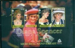 Mongolia 2007 Princess Diana In Memoriam, 10th Anniv., Diana Spencer MS MUH - Mongolia