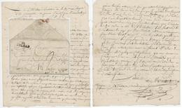 Lettre De Bergheim Pour Rouffach 24 Ventôse An V 14.3.1797 Ambulance De La 89e Brigade Cachet Colmar - Postmark Collection (Covers)