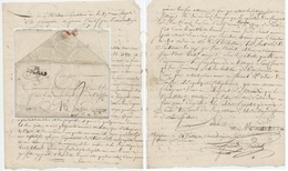 Lettre De Bergheim Pour Rouffach 24 Ventôse An V 14.3.1797 Ambulance De La 89e Brigade Cachet Colmar - 1801-1848: Precursors XIX