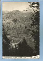 Route De Le Bourg-d'Oisans à L'Alpe-d'Huez Par Roby (38) Sarennes Et La Garde (cachet Hexagonal) 1966 ? - Bourg-d'Oisans
