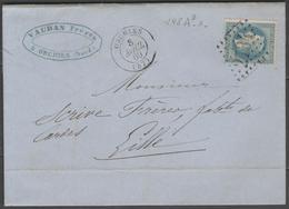 Nord:  G.C.2734 Sur N°29B + CàD ORCHIES(57) Sur LAC De 1869 - Marcophilie (Lettres)