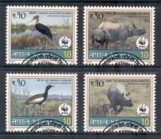Nepal 2000 WWF Wildlife, Rhino, Birds FU - Nepal
