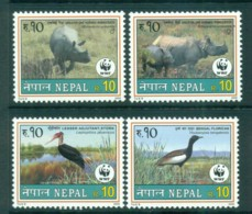 Nepal 2000 WWF Wildlife, Rhino, Birds MUH Lot73152 - Nepal