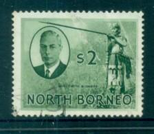 North Borneo 1950 KGVI Murut With Blowgun $2 FU Lot82363 - Stamps